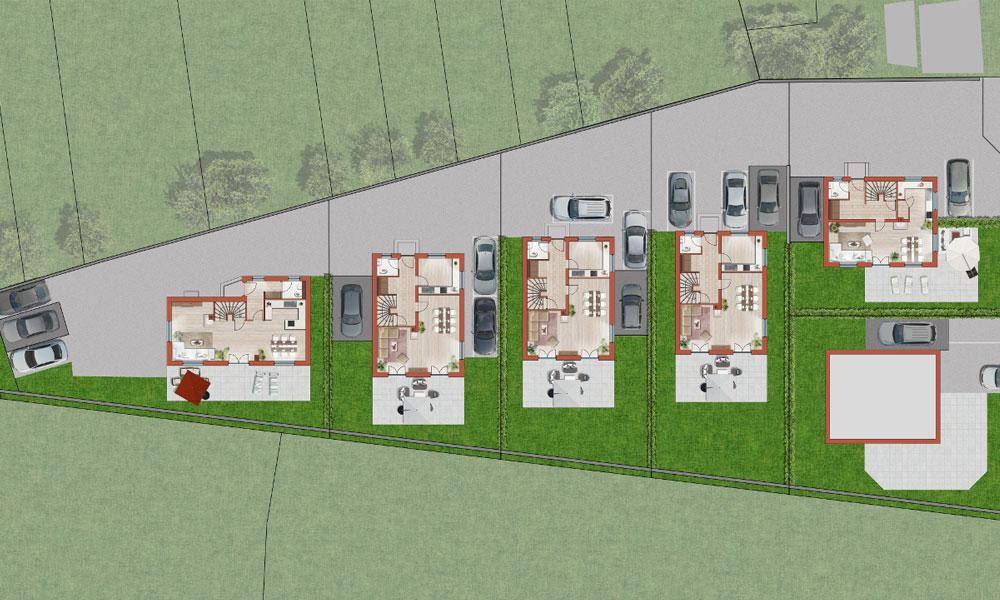 Einfamilienhäuser in Oberalm Lageplan